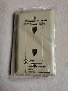 Legrand 26TE26-I Sierraplex Mod. jack two 6 conductor RJ-11 Single Gang*10Pack*