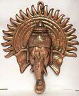 XL Ganesh 31.8x27.9cm GANESH STATUA ELEFANTE DIO INDUISMO bronzo da parete
