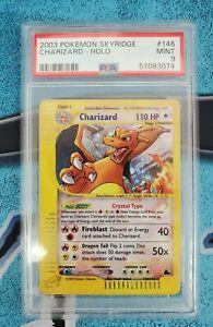 Pokemon Skyridge Charizard Crystal Holo 146/144 PSA 9 MINT 2003 Holofoil Rare
