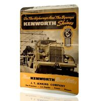 METAL TIN SIGN KENWORTH TRUCK Decor Vintage MOTOR Classic Wall Garage Art Rusted