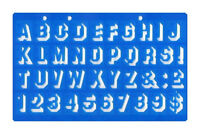 20mm SHADOW 3D FONT UPPER CASE ALPHABET LETTERS & NUMBER STENCIL TEMPLATE SCHOOL