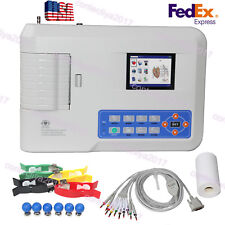US Contec Electrocardiograph ECG EKG Machine 3 Channel+Software+Printer ECG300G
