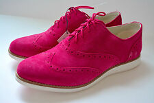 COLE HAAN GRAND OS Suede Sneaker Size 11 Shoe WINGTIP Womens Pink Zero Grand CL