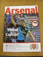 16/08/2011 Arsenal v Udinese [UEFA Champions League] . (Any noticable faults wit