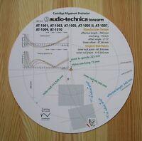 Audio-Technica AT-1001/1003/1005/1007/1009/1010 Tonearm Alignment Protractor