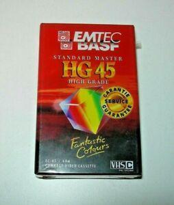 Cinta VHS-C Emtec BASF HG 45 min. PAL / SECAM - nuevo
