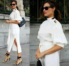 Zara Studio Linen Buttoned Dress With Side Slits & Vents. Size M Ref 2780/726