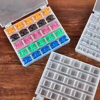 25 Spools Bobbins Sewing Machine Bobbin Case Organizer Storage Clear Box