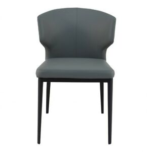 """19.5"""" W Set of 2 Side Chair Easy Clean Upholstery Steel Frame Contemporary"""