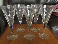"""More details for 5 royal doulton crystal lunar 8"""" or 20 cm wine glasses"""