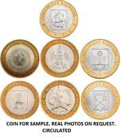 HIGH GRADE * SET 2005  7 BI-METALLIC RUSSIAN COINS 10 RUBLES REGIONS OF RUSSIA