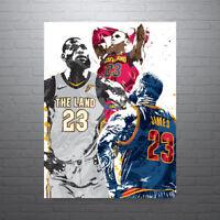 Lebron James LBJ Cleveland Cavaliers 3 Art Silk Poster 13x24 32x57inch J259