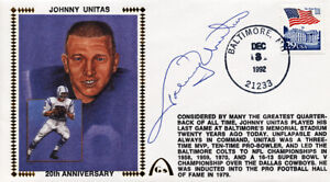 **Johnny Unitas Signed Autographed Cachet Baltimore Colts #2 PSA/DNA**
