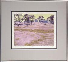 """Gordon Mortensen """"February Morning"""" Framed Signed Woodcut Art Print, 1981, OBO!"""