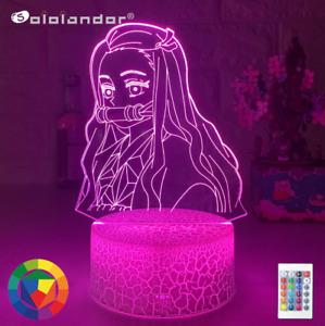 3D Lamp LED Night Light Kimetsu No Yaiba Nezuko Kamado Cartoon Kids Gift Bedroom