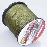 Spider 100-2000m 10LB~300LB 100%PE Army Green Braid Fishing line/Agepoch line