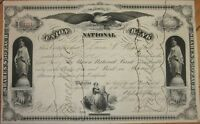 1879 Stock Certificate: 'Union National Bank' - Philadelphia, Pennsylvania PA