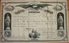 1879 Stock Certificate: 'Union National Bank' - Philadelphia, Pennsylvania PA