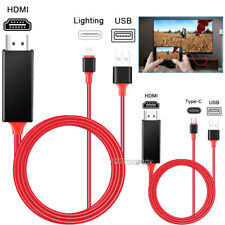 HDMI Mirroring IOS/Type C Cable Phone to TV HDTV Adapter For iphone ipad Samsung