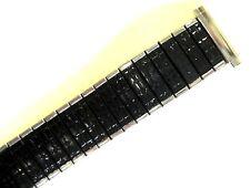 SPEIDEL 16-19MM BLACK SILVER ROMUNDA TWIST O FLEX EXPANSION WATCH BAND STRAP