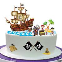 Eßbar Tortenaufleger Piraten-Schiff Party Eßbar DVD NEU Tortenbild  Dekoration