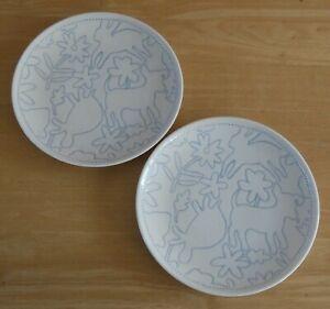 "Pair Of Royal Doulton Ellen Degeneres 6.25"" Polar Blue Side Plates (BNWOT)"