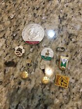 football soccer club vintage enamel pin Lot Of 9 trading schwans USA  cup