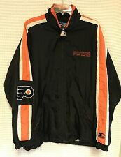Vintage Starter NHL Large Black Philadelphia Flyers Windbreaker Full Zip Jacket