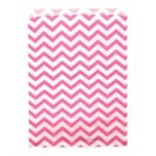 """500 Pink Chevron Merchandise Retail Paper Party Favor Gift Bags 6"""" x 9"""" Tall"""