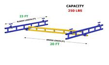 Gorbel Ceiling Mounted Bridge Crane Al 250 Lb Capacity Glcs 250 20al 23
