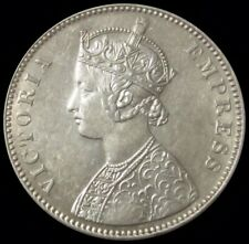 1888 SILVER INDIA BRITISH 1 RUPEE COIN QUEEN VICTORIA COIN ABOUT UNCIRCULATED