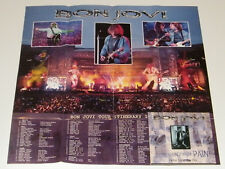 BON JOVI Something For The Pain Rare Limited poster edition CD single & LIve