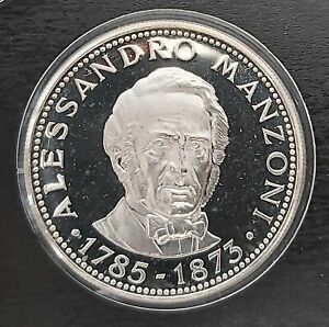 PARAGUAY RARE 150 GUARANIES SILVER PROOF COIN 1974 YEAR KM#112 MANZONI