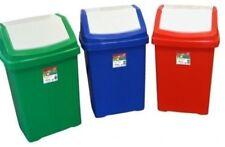 Plastica Set di 3 Swing polvere CESTINI PER RIFIUTI CONTENITORE RIFIUTI SPAZZATURA titolari di riciclaggio