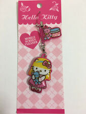 Hello Kitty Mobile Screen Cleaner With Phone Strap --Kitty Bear Design by Sanrio
