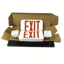 Hubbell Lighting Compass Ccrhosq Exit Sign With Emergency Lights