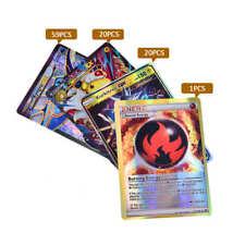 100Pcs Pokemon Cards 20GX+20Mega+59EX+1Energy Holo Flash Trading Card Mixed USA