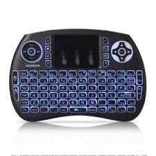 Mini teclado inalambrico QWERTY de 2,4 GHz portatil con panel tactil y luz d K7