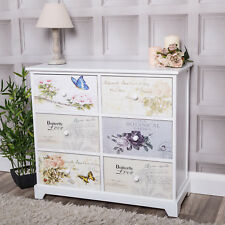White Chest Of Drawers Modern Vintage Style Bedroom Hallway Home Furniture