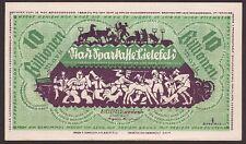 Bielefeld, Notgeld 10 Billionen Mark, 16.11.1923, Topstück!, kassenfrisch I