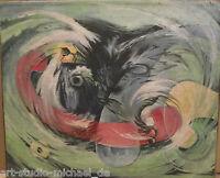 Otfried Mahnke: Frühes, informelles Gemälde, Ölgemälde