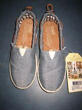 Toms Youth Kids Bimini Slip-on Casual Shoes Chambray Denim Blue 12