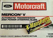 Motorcraft Mercon V transmission fluid XT5QMC case 12 quarts XT-5-QMC