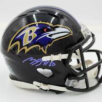 "Miles Boykin Signed Baltimore Ravens Speed Mini Helmet JSA ""Signature Debut"" COA"