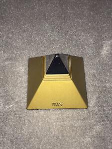 Vintage Seiko QEK101K Pyramid Talking Alarm Clock Clock Works And Talks