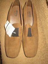 WOMENS BRAND NEW ARCHE BROWN LEATHER WEDGE SHOES, SZ 40, LQQK!!