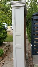 Fabulous Vintage Wooden Tall Grey Painted Bookshelf/Cabinet/Larder Free Delivery