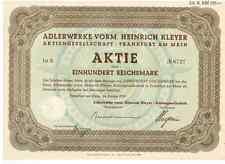 Adlerwerke vorm. Heinrich Kleyer AG Frankfurt 1935 Triumph  Adler