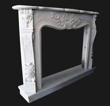 Cheminée Marbre Blanc Cadre Style Classique Marbre Classic Fireplace Frame
