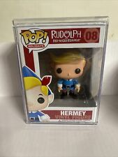 FUNKO POP! RUDOLPH THE RED-NOSED REINDEER HERMEY #08 VAULTED W/ HARD STACKER